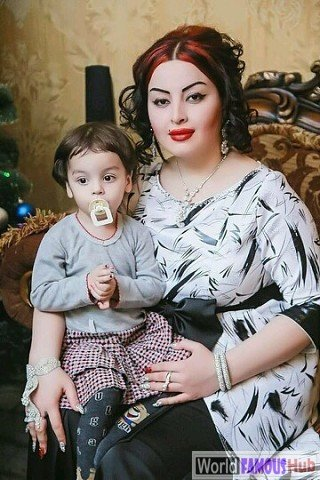 Firuza Hafizova with son
