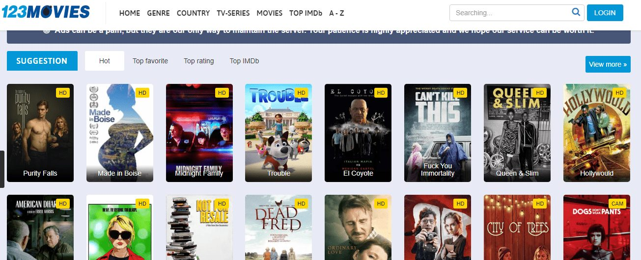 0123Movies Working Mirror Sites - Website of Movie Streaming Online For Free
