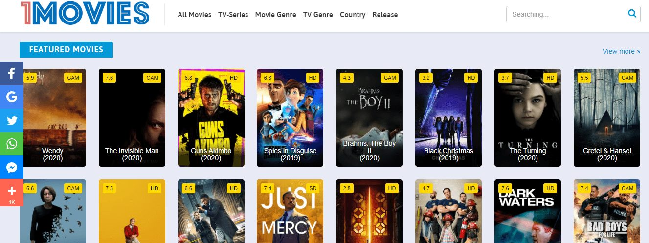 1Movies Top Best Alternatives: Watch Movies and TV Shows For Free