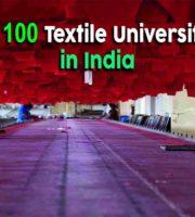 Top 100 Textile Universities in India