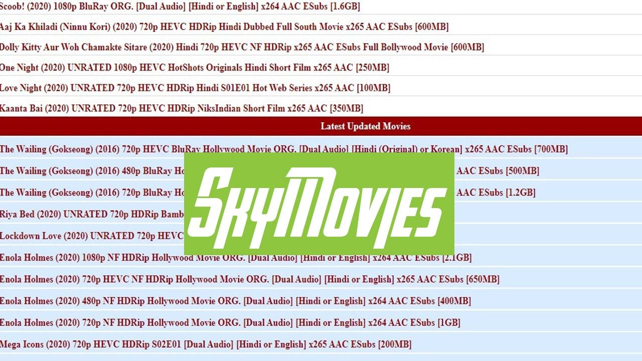 Skymovies: Download Bollywood, South Indian Hindi Dubbed HD Movies