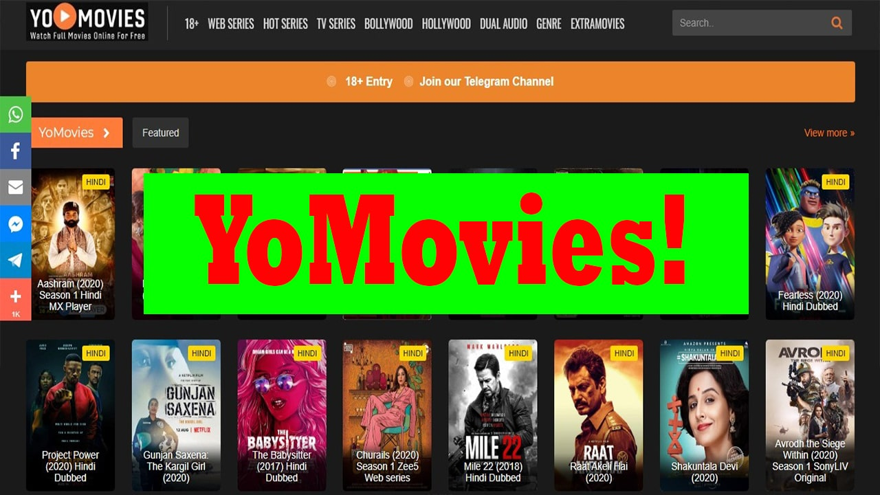 Yomovies Watch Latest Movies Tv Series Bollywood Hollywood Online Movies App